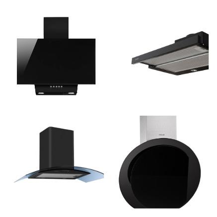 Черные вытяжки в интернет магазине